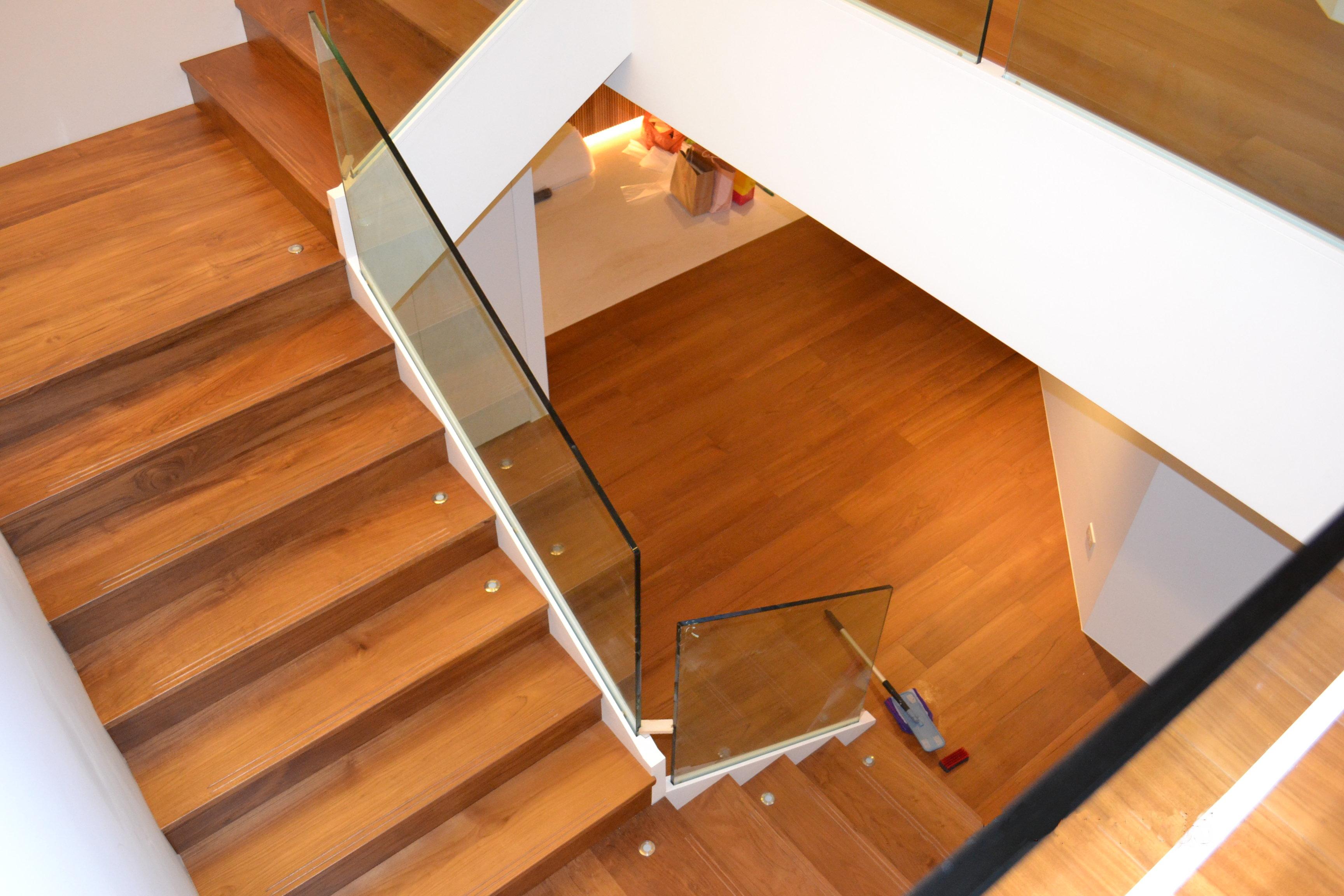 新原古-緬甸柚木樓梯踏板(台北市敦化南路)