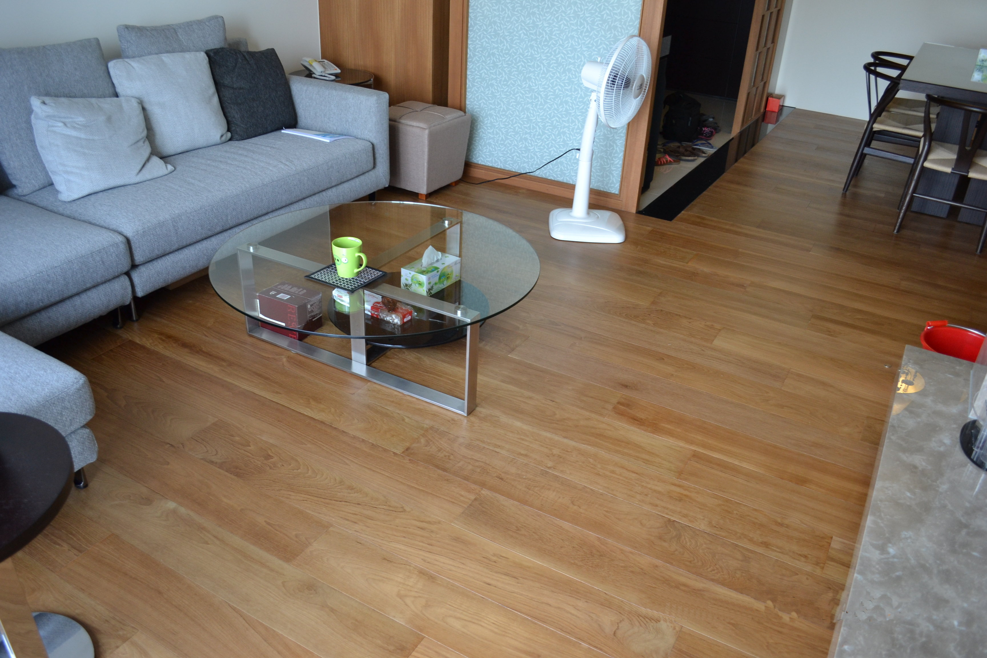新原古-緬甸柚木複合地板5寸6分厚單片300條