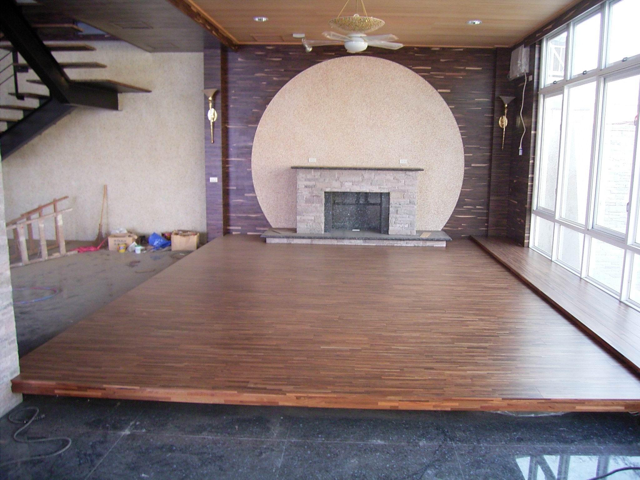 新原古-藝術拼接 綠檀 海島複合地板厚單片300條5寸5分