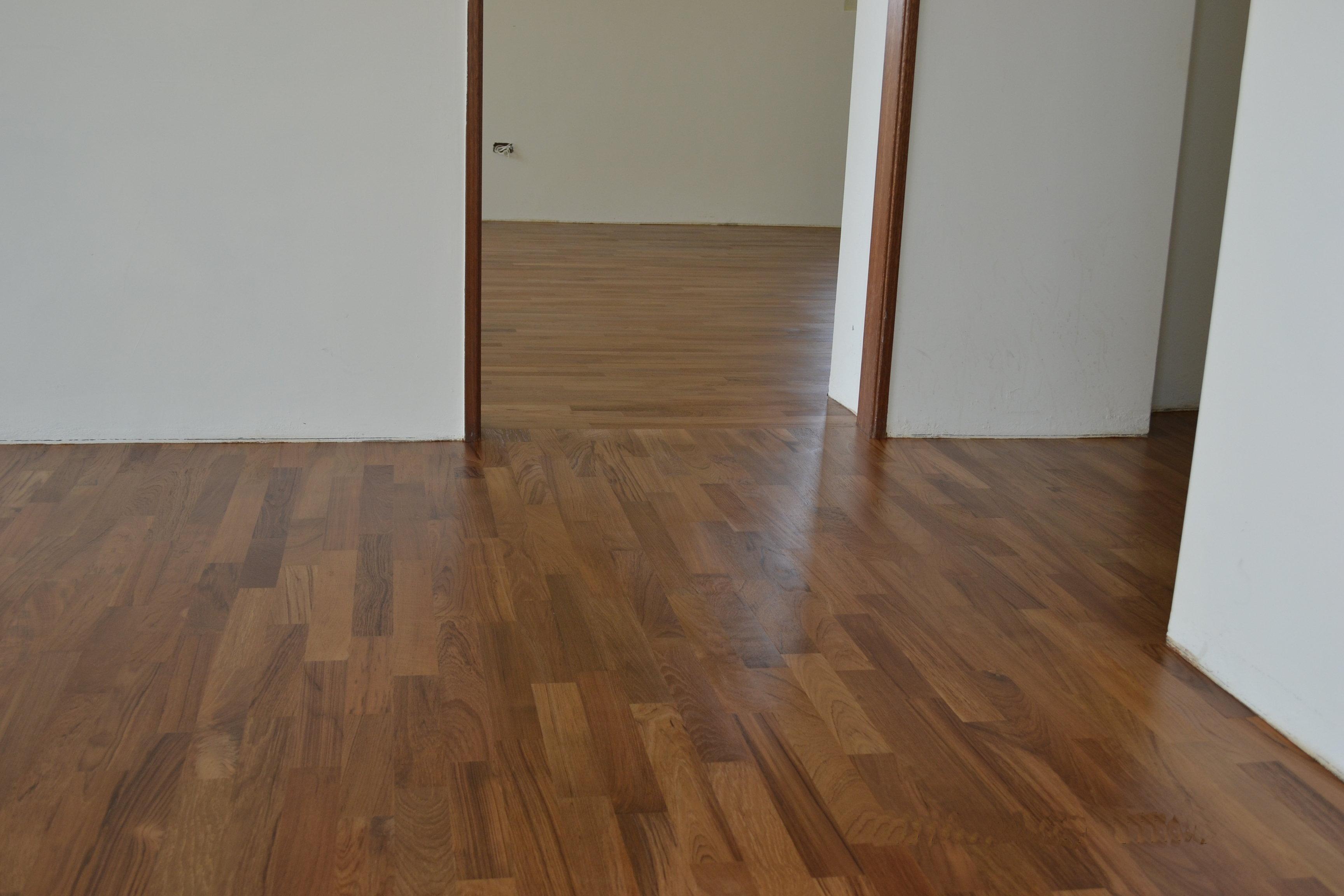 新原古-緬甸柚木平口無縫地板