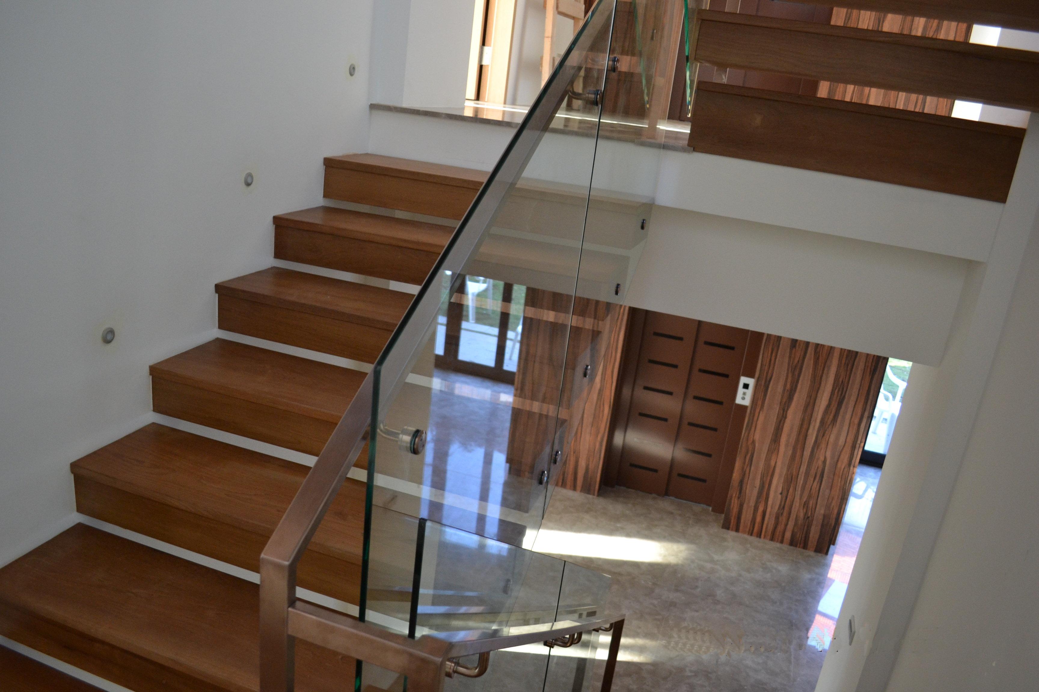 新原古-緬甸柚木 樓梯踏板 懸空四面包(陽明山)